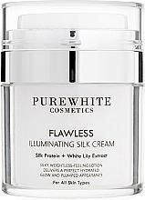 Kup Krem rozświetlający do twarzy - Pure White Cosmetics Flawless Illuminating Silk Cream