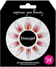 Kup Zestaw sztucznych paznokci z klejem, 3062 - Donegal Express Your Beauty