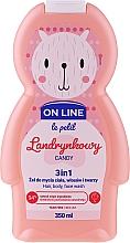 Kup Landrynkowy żel do mycia ciała, włosów i twarzy 3 w 1 - On Line Le Petit Candy 3 In 1 Hair Body Face Wash
