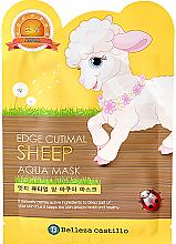 Kup Nawilżająca maska na tkaninie do twarzy Owieczka - Belleza Castillo Edge Cutimal Sheep Aqua Mask