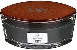 Świeca zapachowa w szkle - Woodwick Hearthwick Flame Ellipse Candle Evening Bonfire — фото N2