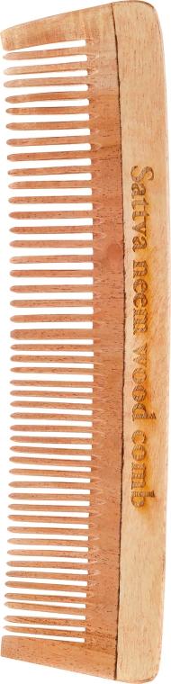 Grzebień z drzewa neem do włosów, 19 cm - Sattva Neem Wood Comb