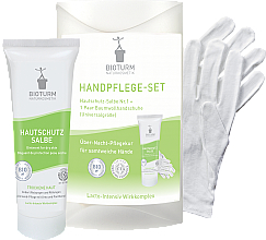 Kup Zestaw do pielęgnacji suchych rąk - Bioturm Hand Care Set (cr/50ml + gloves)
