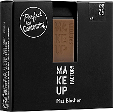 Kup Matowy róż do policzków - Make up Factory Mat Blusher