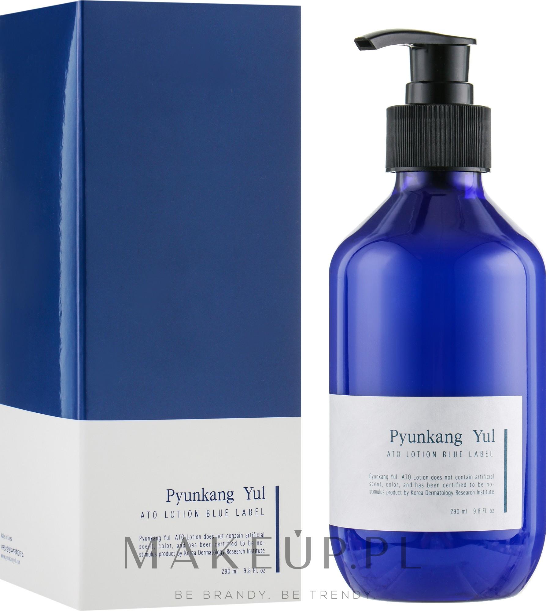 Profesjonalny nawilżający lotion-emulsja z wyciągiem z wiciokrzewu - Pyunkang Yul Ato Lotion Blue Label — фото 290 ml