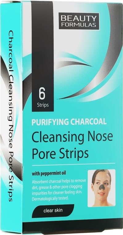Plastry głęboko oczyszczające pory nosa - Beauty Formulas Purifying Charcoal Deep Cleansing Nose Pore