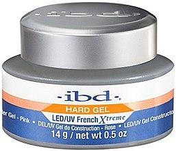 Kup Różowy żel do paznokci - IBD Hard Gel LED/UV French Xtreme Builder Gel Pink