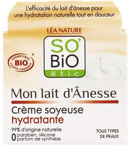 Nawilżający krem do twarzy z oślim mlekiem - So'Bio Etic Mon Lait d'Anesse Silky Moisturizing Cream — фото N1
