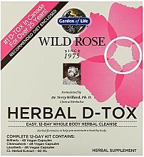 Kup Zestaw do 12 dniowego oczyszczania organizmu - Garden of Life Wild Rose Herbal D-Tox 12-Day Cleanse Kit
