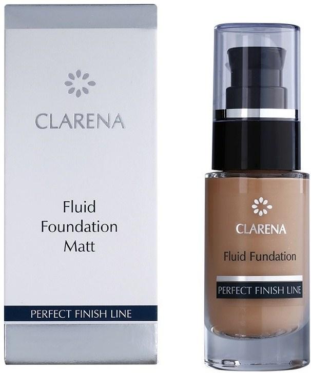 Matujący podkład do cery mieszanej i tłustej - Clarena Perfect Finish Line Fluid Foundation Mat