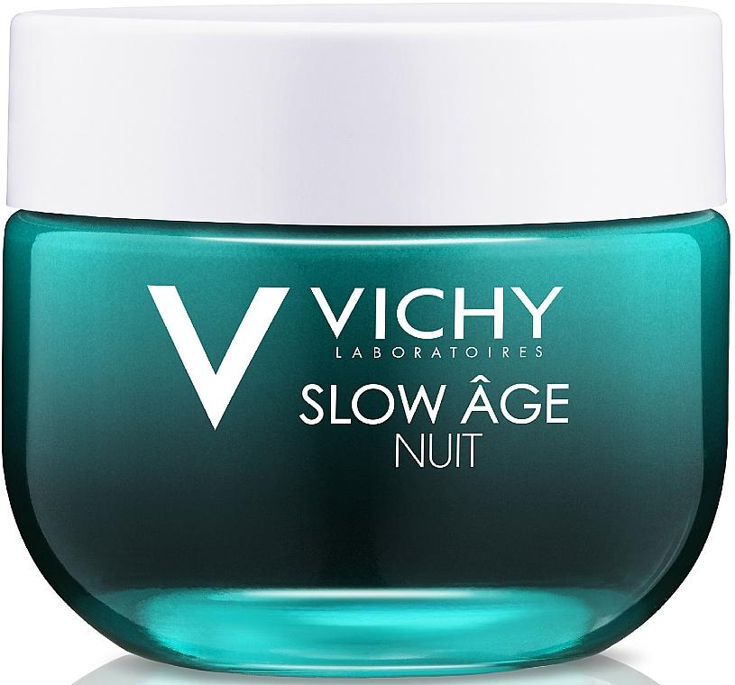 Krem i maska do twarzy na noc Dotlenienie i regeneracja - Vichy Slow Âge Night Cream & Mask — фото N1