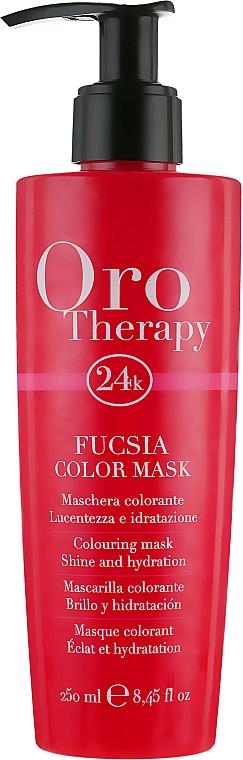 Koloryzująca maska do włosów - Fanola Oro Therapy Colouring Mask — фото N1