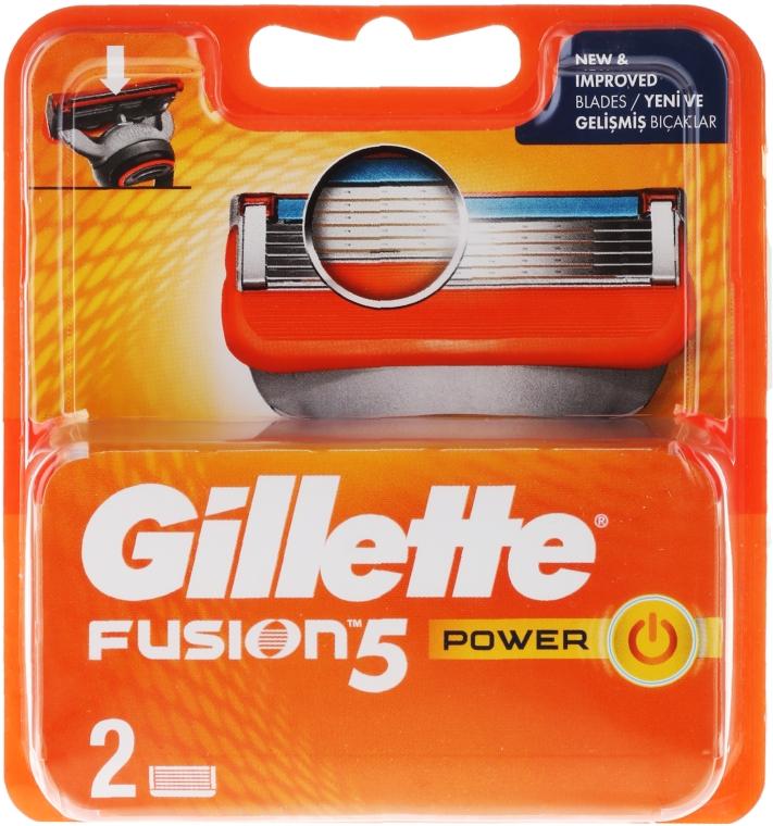 Wymienne wkłady do maszynki, 2 szt. - Gillette Fusion Power — фото N1