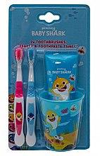 Kup Zestaw - Pinkfong Baby Shark (t/paste 75 ml + 2 x t/brush + glass)