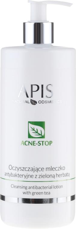 Oczyszczające mleczko antybakteryjne z zieloną herbatą - APIS Professional Acne-Stop