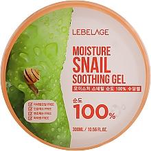 Wielofunkcyjny żel nawilżający do twarzy i ciała z mucyną ślimaka - Lebelage Moisture Snail 100% Soothing Gel — фото N1