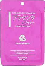 Kup Maseczka do twarzy w płachcie Placenta i platinum - Mitomo Essence Sheet Mask Placenta + Platinum