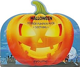 Kup Kojąca maseczka w płachcie do twarzy z ekstraktem z dyni - Ayoume Halloween Horror Pumpkin Mask Soothing