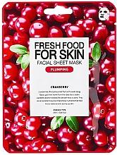 Kup Nawadniająca maseczka w płachcie do twarzy Żurawina - Superfood For Skin Facial Sheet Mask Cranberry Plumping
