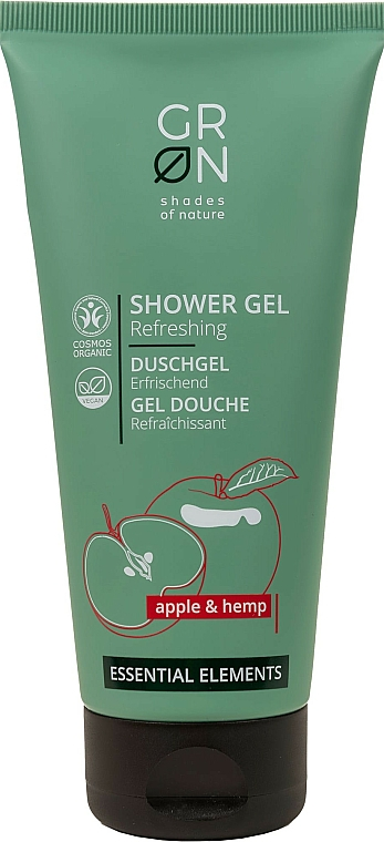 Żel pod prysznic z ekstraktem z jabłka i konopi - GRN Essential Elements Apple&Hemp Shower Gel — фото N1