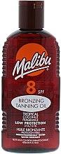 Kup Brązujący olejek do opalania o zapachu kokosa SPF 8 - Malibu Bronzing Tanning Oil Tropical Coconut Fragrance