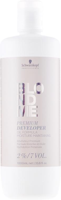 Kremowy utleniacz do włosów blond 2% - Schwarzkopf Professional Blondme Premium Developer 2%