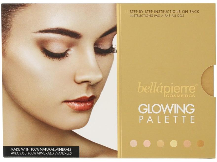 Paletka rozświetlaczy do twarzy - Bellapierre Cosmetics Glowing Palette — фото N2