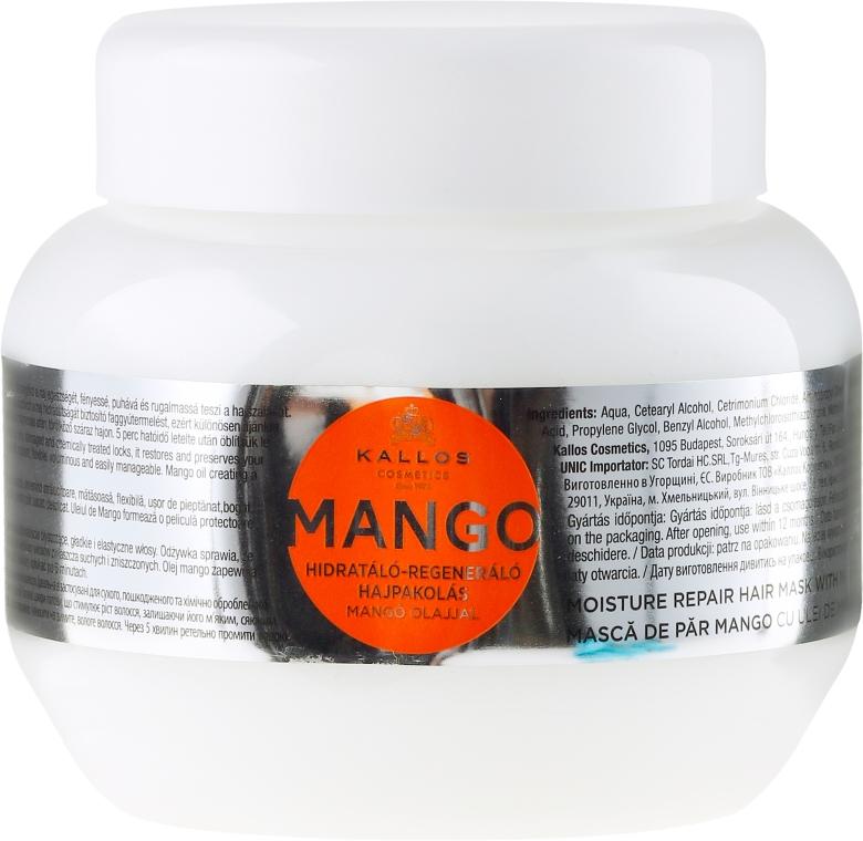 Nawilżająca maska naprawcza do włosów z olejem z mango - Kallos Cosmetics Mango Hair Mask