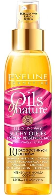 Luksusowy suchy olejek + serum regenerujące do twarzy i ciała - Eveline Cosmetics Oils of Nature