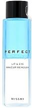 Kup Płyn do demakijażu oczu i ust - Missha Perfect Lip & Eye Make-Up Remover