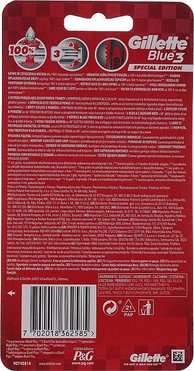 Maszynki do golenia, 5+1 szt. - Gillette Blue III Red and White — фото N2