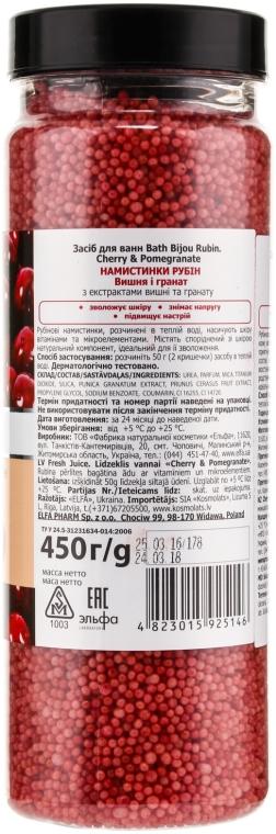 Perełki do kąpieli - Fresh Juice Bath Bijou Rubin Cherry And Pomegranate — фото N2