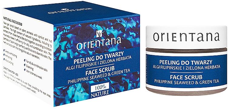 Naturalny żelowy peeling do twarzy Algi filipińskie i zielona herbata - Orientana