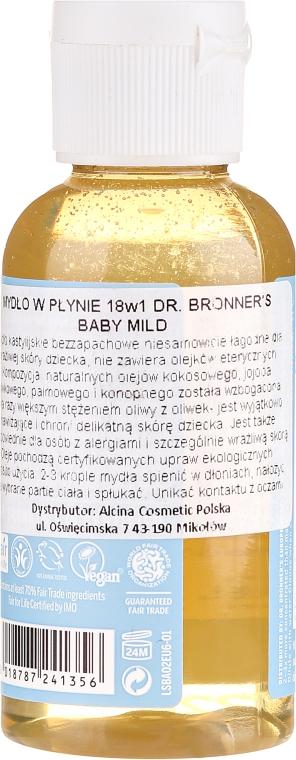 Mydło w płynie dla dzieci - Dr. Bronner's 18-in-1 Pure Castile Soap Baby-Mild — фото N2