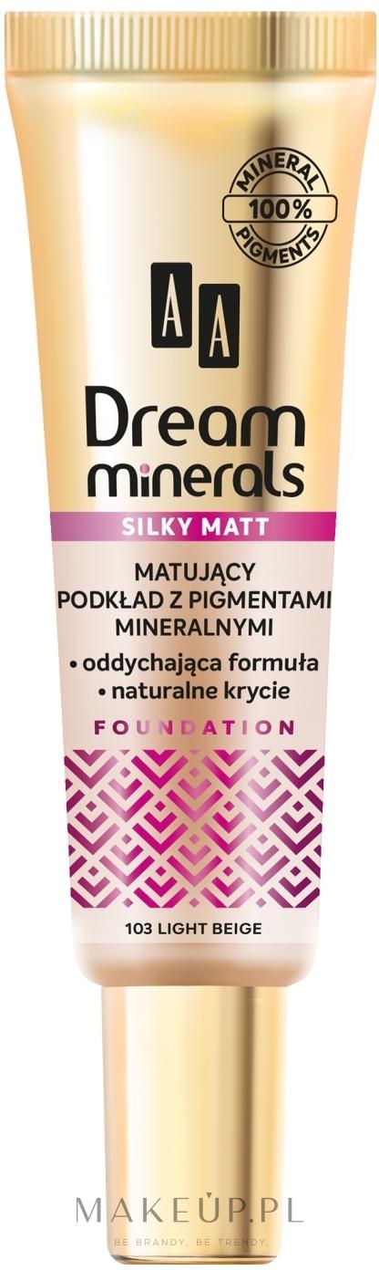 Matujący podkład do twarzy - AA Dream Minerals Silky Matt — фото 103 - Light Beige