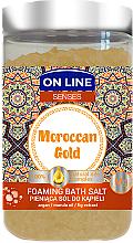 Kup Pieniąca sól do kąpieli z olejami marula i arganowym - On Line Senses Moroccan Gold