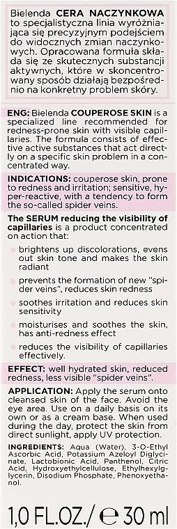 Serum zmniejszające widoczność naczynek do cery naczynkowej - Bielenda Capillary Skin Face Serum — фото N3