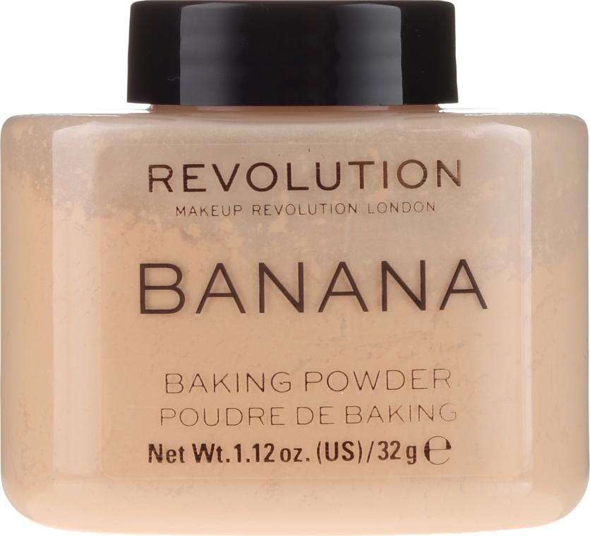Sypki puder bananowy do twarzy - Makeup Revolution Banana Baking Powder — фото N1