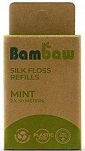 Kup Nić dentystyczna z jedwabiu Mięta - Bambaw Silk Dental Floss (zapasowy wkład)