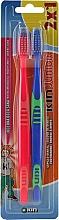 Kup Szczoteczki do zębów dla dzieci, niebieska + czerwona - Kin Junior Toothbrush Pack