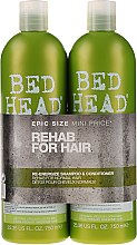 Kup Zestaw - Tigi Bed Head Rehab For Hair Kit (shm/750ml + cond/750ml)