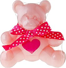 Kup Glicerynowe mydło o zapachu słodkiej pianki z różą Miś Pysio - Chlapu Chlap