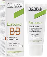 Kup PRZECENA! Korygujący krem BB do twarzy przeciwko przebarwieniom do ciemnej cery - Noreva Laboratoires Exfoliac BB Cream Anti-imperfection Tinted Care *