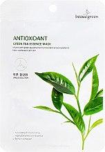 Kup Antyoksydacyjna maska na tkaninie z ekstraktem z zielonej herbaty - Beauugreen Antioxidant Green Tea Essence Mask