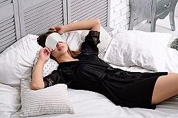 Maska do snu Soft Touch, biała (20 x 8 cm) - Makeup — фото N2