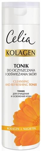 Tonik do oczyszczania i odświeżania skóry Kolagen i nagietek - Celia Kolagen