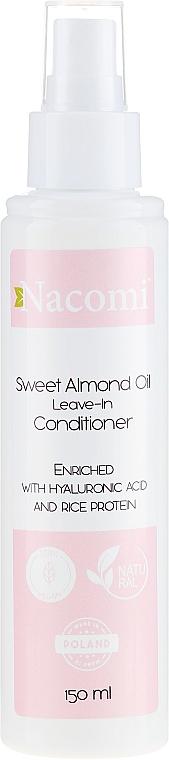 Odżywka do włosów bez spłukiwania z olejem migdałowym - Nacomi Natural — фото N1