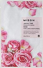 Kup Nawilżająca maska na tkaninie Róża - Mizon Joyful Time Essence Mask Rose