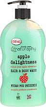 Kup Jabłkowe mydło pod prysznic do włosów i ciała z aloesem - Bluxcosmetics Naturaphy