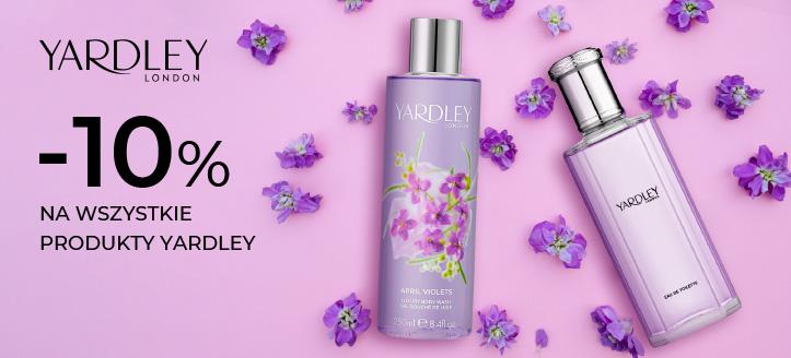 Zniżka 10% na wszystkie produkty Yardley. Ceny na stronie zawierają rabat.